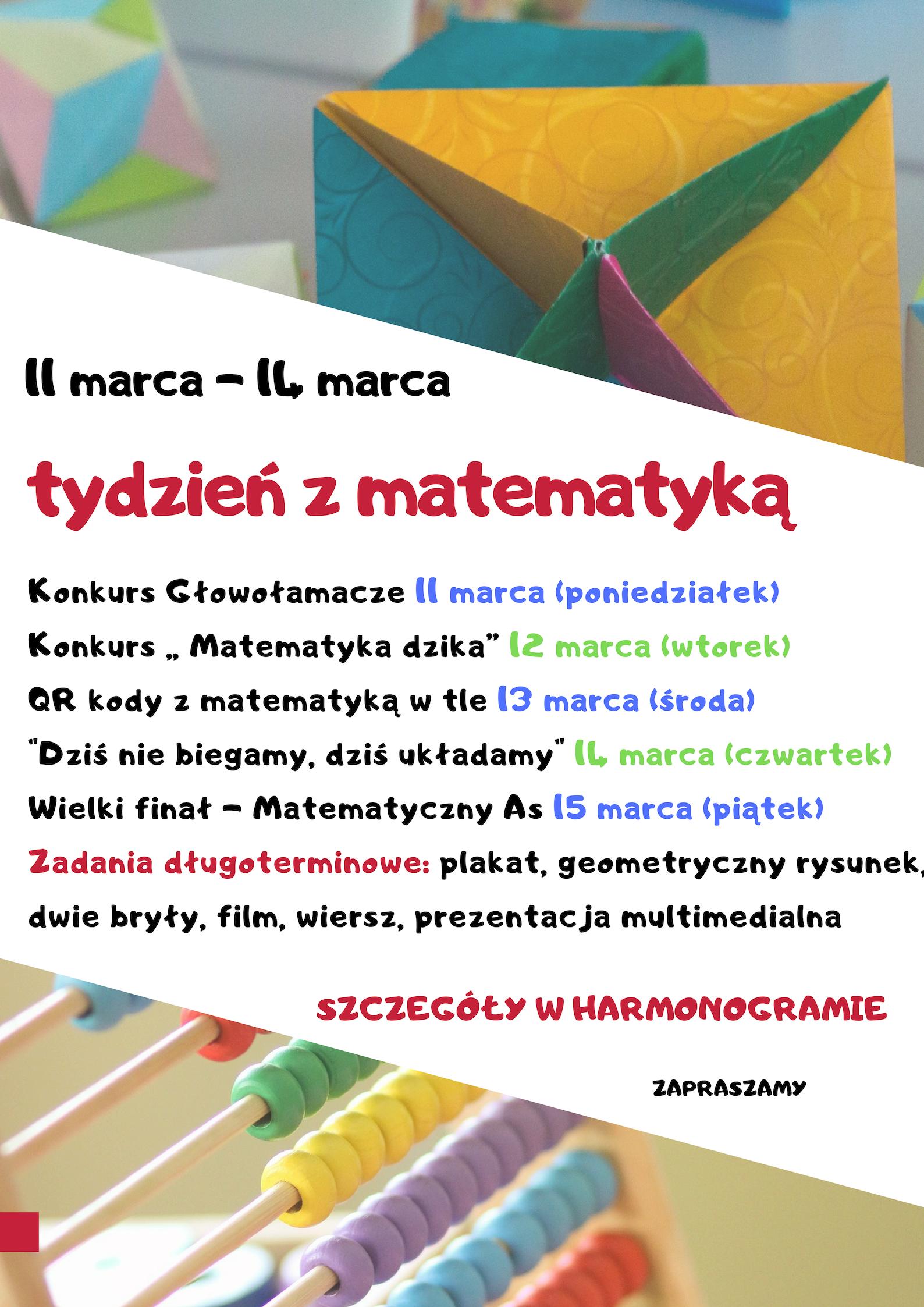 Tydzień Z Matematyką W Sp5