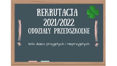 Wyniki rekrutacji do oddziałów przedszkolnych