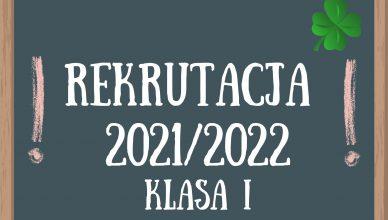 Nabór 2021 – KLASA I