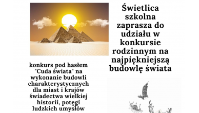 """Świetlicowy konkurs – """"Cuda świata"""""""